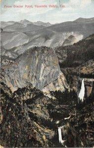 Yosemite Valley California 1908 Postcard From Glacier Point