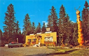 Radium B. C. Canada Junction Coffee Counter Roadside Drive-In Postcard