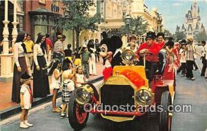 Riding Down Main Street, USA, Mickey Mouse Walt Disney World, FL, USA Postcar...