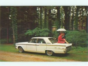 1962 Postcard Ad FORD FAIRLANE 500 CAR AC6144