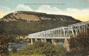 Sunderland Bridge & Mt. Sugarloaf, Massachusetts ca 1910s Vintage Postcard