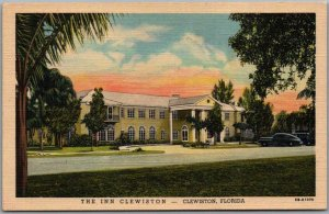 Clewiston, Florida Postcard THE INN CLEWISTON Hotel Front View Linen Unused