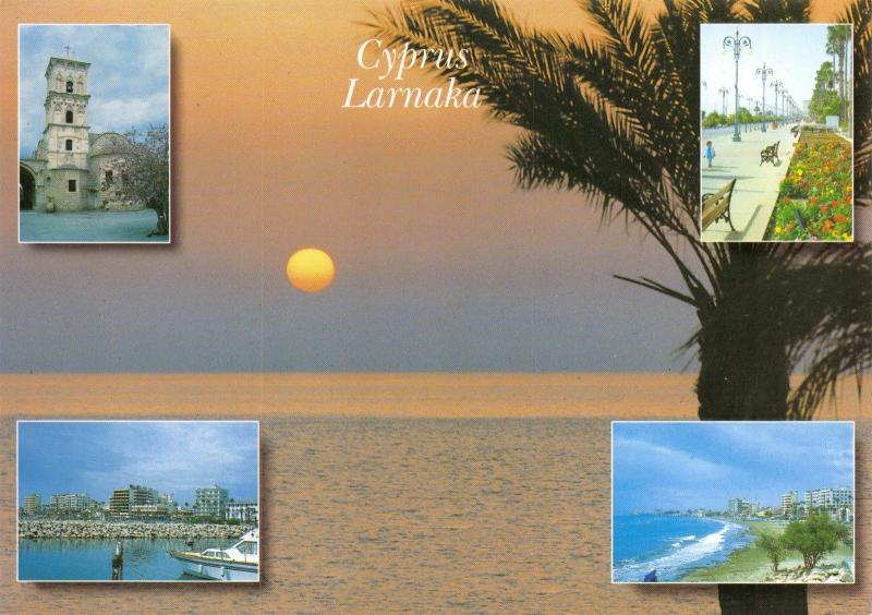 Cyprus Postcard, Larnaka Multi View by Petros Sophokleous No.85 A9