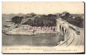 Postcard Old Marseille Corniche Bridge False Currency Malmousque and views of...