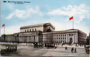 New Union Station Toronto Ontario ON (As Proposed) Unused Antique Postcard D45