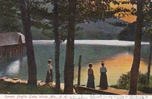 New Hampshire White Mountains Profile Lake At Sunset
