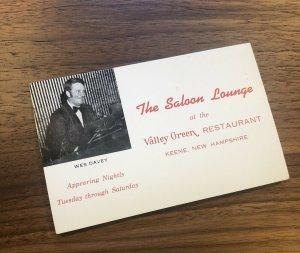 Keene , NH - New Hampshire - The Saloon Lounge - Valley Green Restaurant Menu