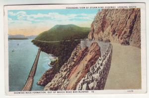 P346 JL,s 1930 ny postcard hudson river old cars storm king highway