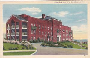 CUMBERLAND, Maryland, 1930-40s; Memorial Hospital