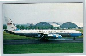 Dayton OH- Ohio, Air Force Museum, Air Force VC137 Air Force One,Chrome Postcard