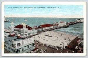 Atlantic City NJ~Steel Pier~New Orleans Pralines Shop~Cats Paw Billboard~1920s