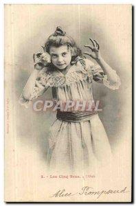 Fantasy - Child - The Five Senses - Old Postcard