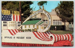 Yorba Linda California~President Nixon Birthplace~White House Parade Float~1970s