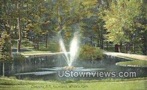 Fountain, White's Park in Concord, New Hampshire