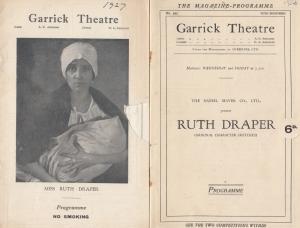 Ruth Draper Garrick London Theatre 2x Antique Programme s