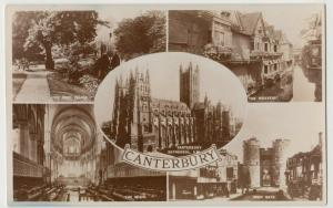 Kent; Canterbury Multiview RP PPC, Unposted, c 1910's, Shows Choir, West Gate