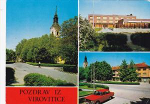 Multi-View, Classic Car, POZDRAV IZ VIROVITICE, Poland, 50-70's