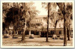 White Springs, Florida RPPC Postcard Colonial Hotel CLINE Photo 2-C-168 c1950s