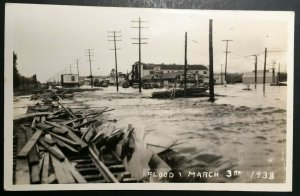 Mint Vintage 1938 Flood Disaster Real Photo Postcard RPPC
