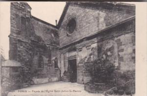 France Paris Facade de l'Eglise Saint-Julien-le-Pauvre