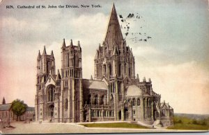 New York City Cathedral Of St John The Devine 1910