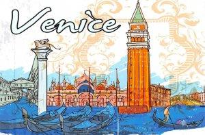 Fine Art Quality Postcard, Venice, Italy, Landmarks, City, View, Travel 3i