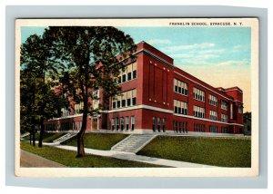 Vintage View of Franklin School, Syracuse NY c1930 Postcard K18