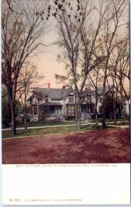 EVANSTON, IL Illinois REST COTTAGE  Home of FRANCES WILLARD  c1900s  Postcard
