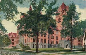 Postcard Central High School Detroit Michigan