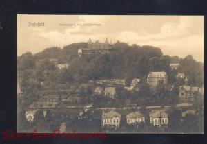 BIELEFELD GERMANY JOHANNISBERG MIT SCHOTZENHEUS ANTIQUE VINTAGE POSTCARD