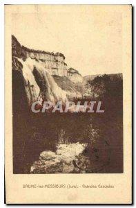 Old Postcard Baume les Messieurs Jura Great Waterfalls
