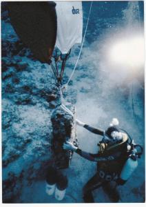 ULUBURUN, Turkey, 2008; Lifting One of Twenty-Four Stone Weight Anchors Using An