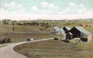 25324 NH, White Mountains, Sunset Hill from the West, horse drawn carrige on ...