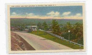 Park Avenue, High Point Monument in Distance, Port Jervis, New York, 30-40s