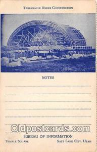 Churches Vintage Postcard Salt Lake City, Utah, USA Vintage Postcard Tabernac...