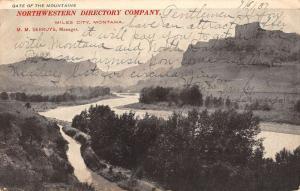 Miles City Montana Northwestern Directory Co Mountain View Postcard K91521