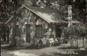 Rosebriar Cabins Forsythe MO Real Photo Postcard rpx
