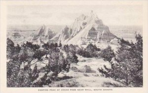 South Dakota Wall Vampire Peak At Cedar Pass Albertype