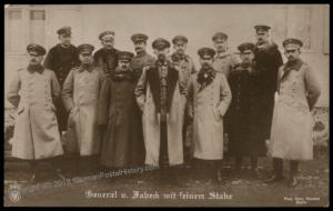 Germany WWI General Max von Fabeck Staff  RPPC 73113