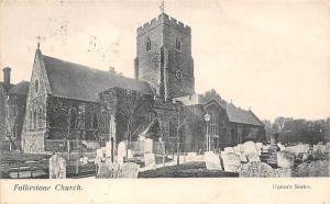 Folkestone Church, Upton's Series, churchyard 1905