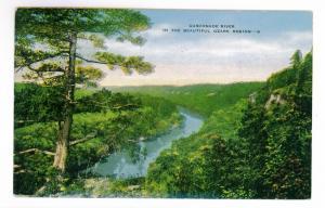 Gasconade River, Ozark Region, unused Kropp Linen Postcard