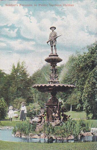 HALIFAX , Nova Scotia , Canada , 00-10s;  Soldier's Fountain In Public Gardens