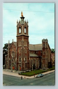 Burlington VT- Vermont, Cathedral of the Immaculate Conception, Chrome Postcard