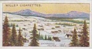 Wills Vintage Cigarette Card 1914 Overseas Dominions Canada No 28 Backwoods V...