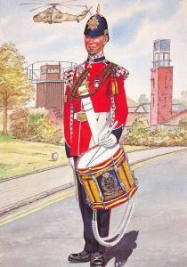 Art Postcard Drummer, 1st Battalion Princess of Wales Royal Regiment 1994 #33-8