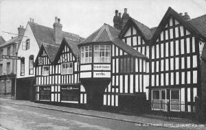 The Old Talbot Hotel Ledbury Postcard