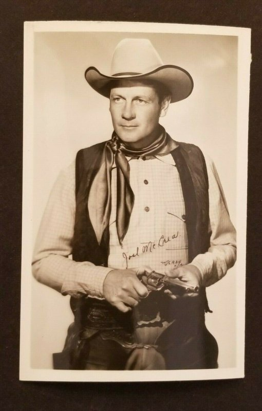 Mint Movie Star Joel McCrea Real Picture Photograph Postcard