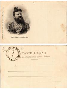 CPA AK THAON-les-VOSGES Madame P. Delait. Femme barbue (378150)