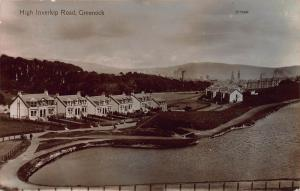 High Inverkip Road, Greenock, Scotland, Early Real Photo Postcard, Unused