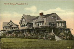 Watch Hill RI Arcadia Cottage c1910 Postcard